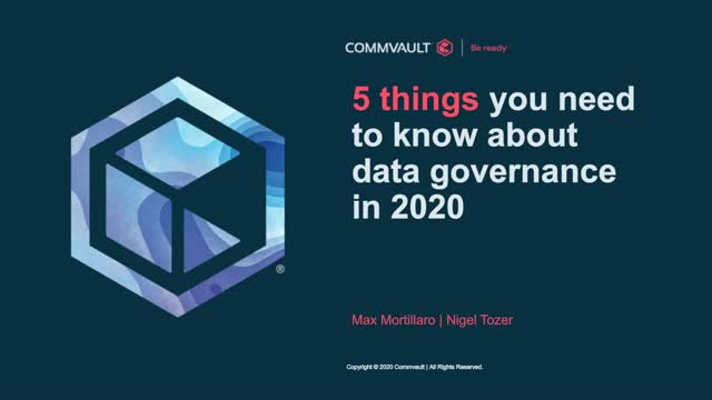 5 things you need to know about data governance in 2020