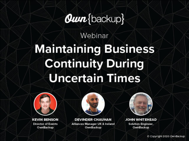 4 Ways to Maintain Business Continuity during Uncertain Times