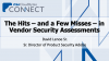 The Hits – and a Few Misses – in Vendor Security Assessments