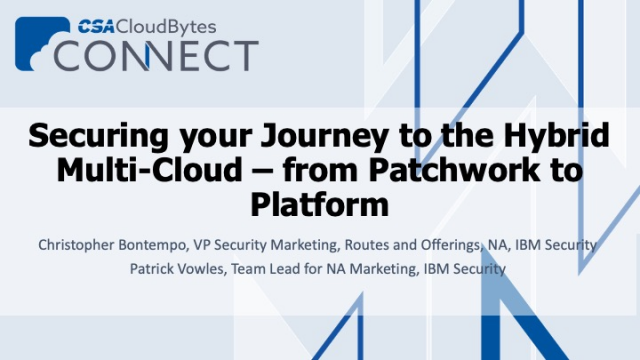 Securing your Journey to the Hybrid Multi-Cloud – from Patchwork to Platform