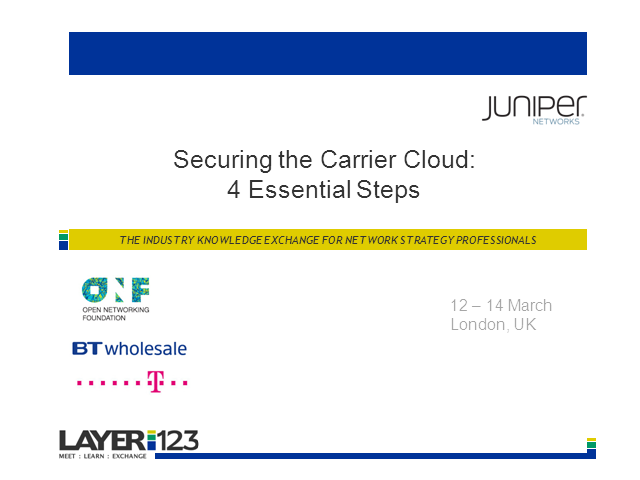 Securing the Carrier Cloud: 4 Essential Steps