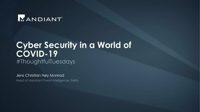 Cyber Security in a World of COVID-19