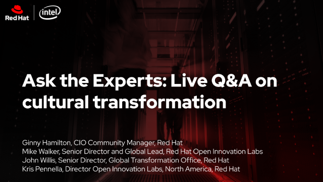 Ask the Experts: Live Q&A on cultural transformation