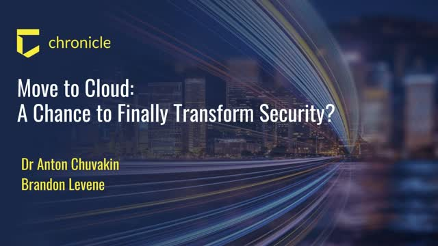 Move to Cloud: A Chance to Finally Transform Security?