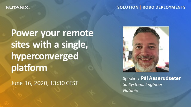 Power your remote sites with a single, hyperconverged platform