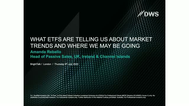 What ETFs are telling us about market trends and where we may be going
