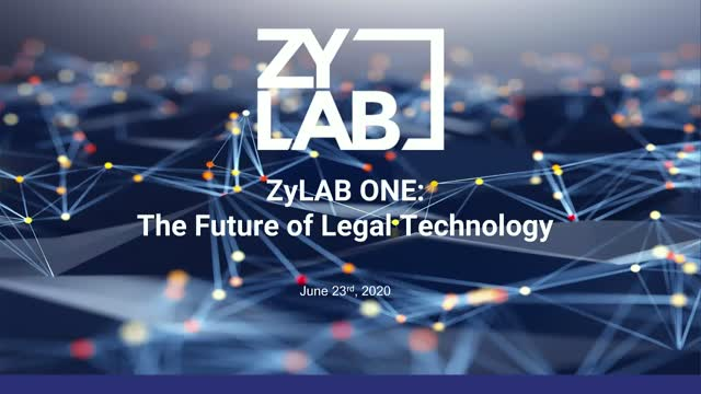 ZyLAB ONE: The Future of Legal Technology