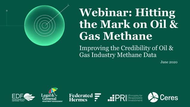 Hitting the Mark on Methane - investor engagement with the oil & gas sector