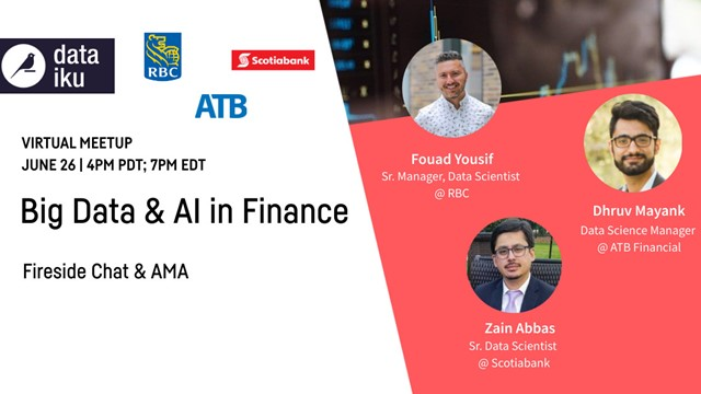 Big Data and AI in Finance ft. RBC, ATB Financial, and Scotiabank