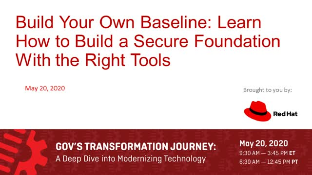 BYOB - Learn how to Build a Secure Foundation with the Right Tools