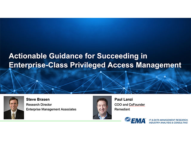 [EMA] Actionable Guidance for Succeeding in Enterprise-Class PAM