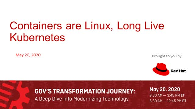 Containers Are Linux, Long Live Kubernetes