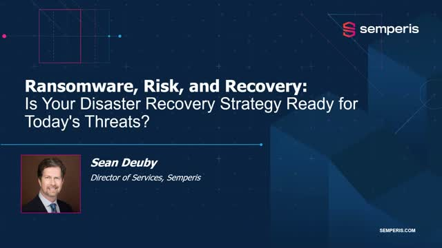 Ransomware, Risk, and Recovery Webinar