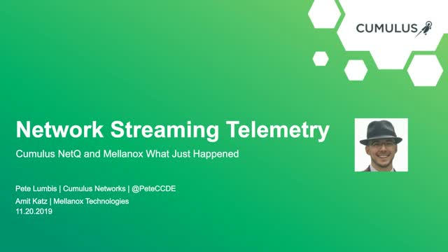 Network streaming telemetry with NetQ and WJH