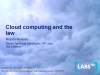 Cloud Computing and the Law