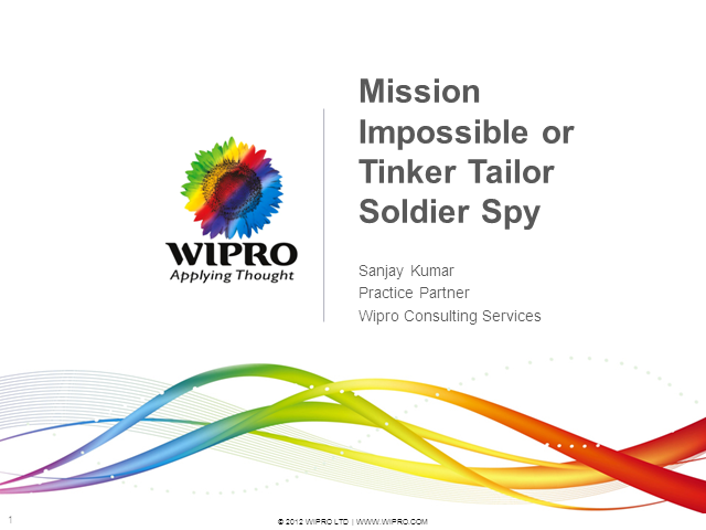 Mission Impossible or Tinker Tailor Soldier Spy?