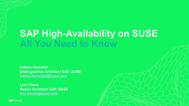 SAP High Availability on SUSE: Everything You Need to Know