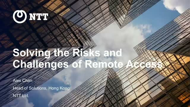Solving the Risks and Challenges of Remote Access