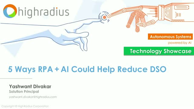 [Live Showcase] 5 Ways RPA + AI Could Help Reduce DSO