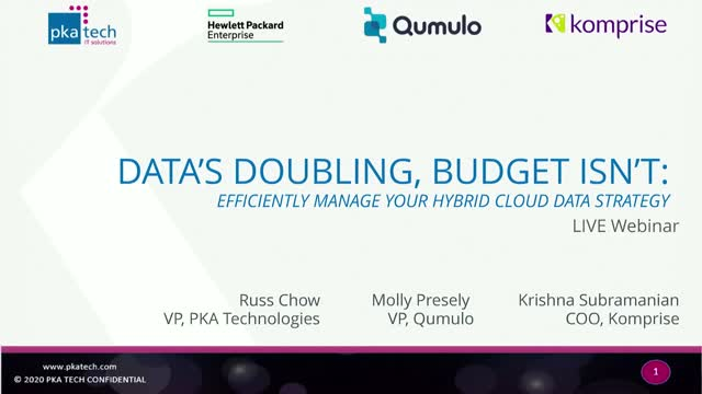 Data's Doubling, Budget Isn't: Efficiently manage your multi cloud data strategy