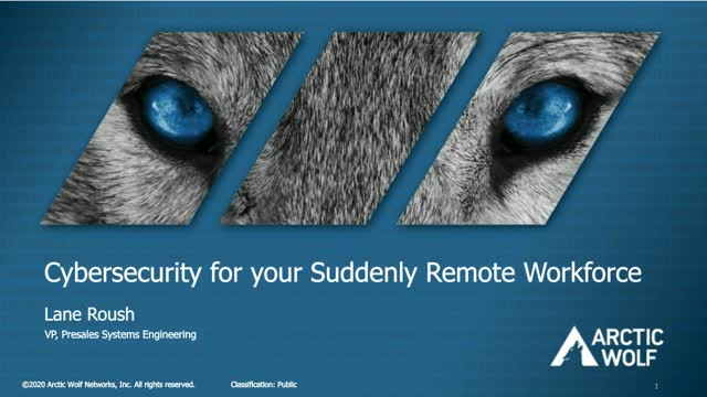 Cybersecurity for Your Suddenly Remote Workforce
