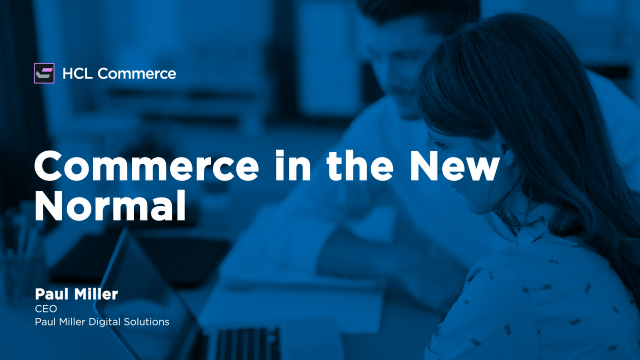 Commerce in the New Normal