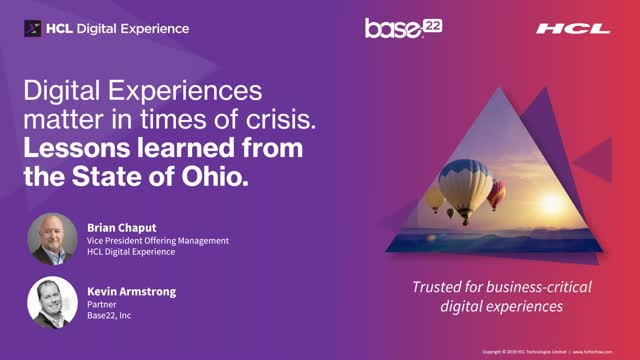 Digital experiences matter in times of crisis. Lessons from the State of Ohio