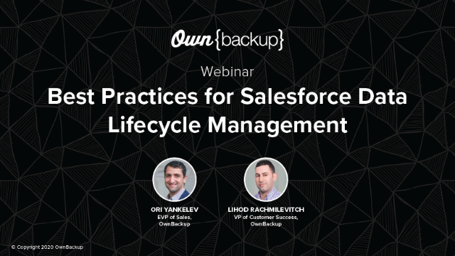 Best Practices for Salesforce Data Lifecycle Management