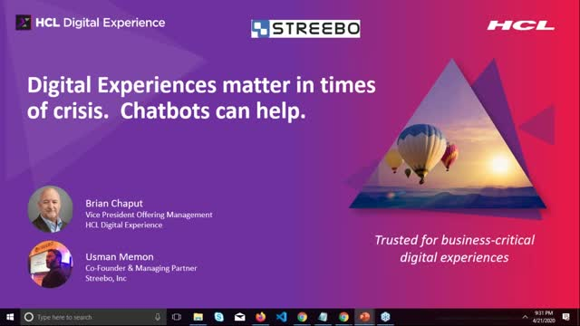 Digital experiences matter in times of crisis. Chatbots can help.