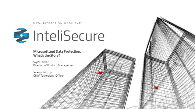 Microsoft and Data Protection. What's the Story?