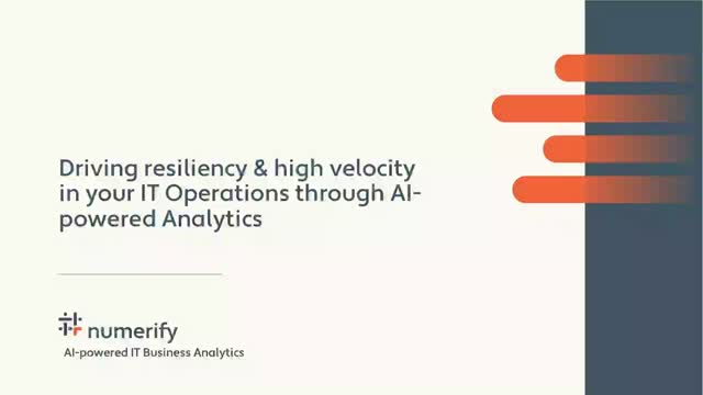 Driving resiliency & high velocity in IT Operations through AI-powered Analytics