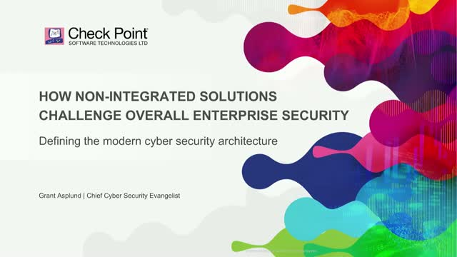 How Non-Integrated Solutions Challenge Overall Enterprise Security
