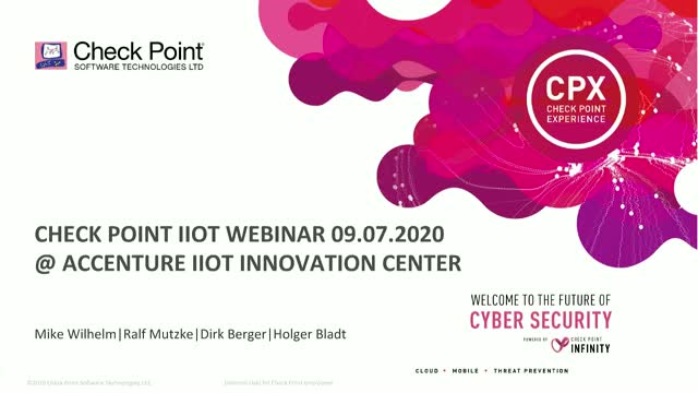 Industrial IoT Security Webinar – Solution approaches, trends and opportunities