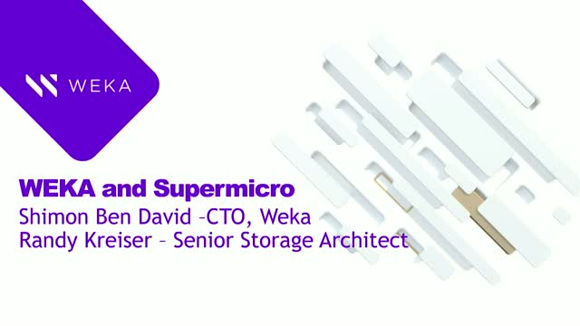 Faster Results and a Quicker Time to Market with Weka and Supermicro