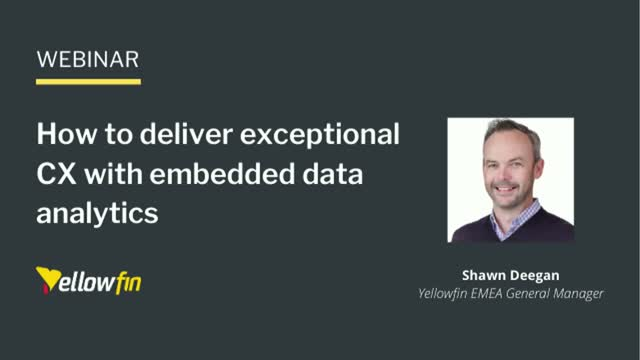 How to deliver exceptional CX with embedded data analytics