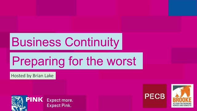 Business Continuity – Preparing for the worst