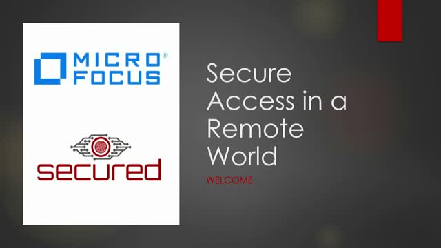 Secure Access in a Remote World