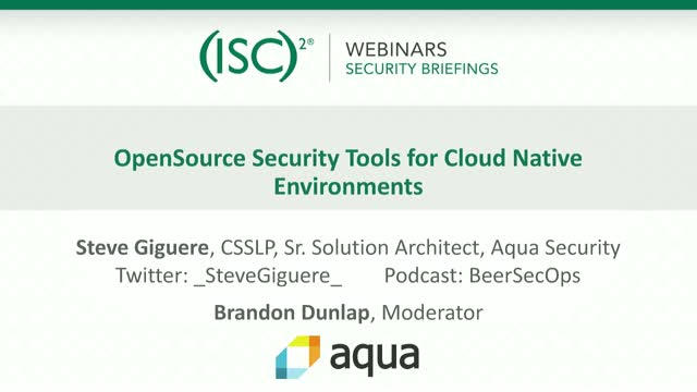 OpenSource Security Tools for Cloud Native Environments