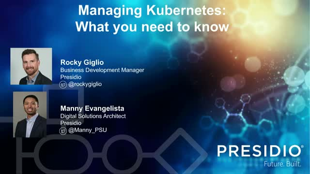 What you need to know about Managing Kubernetes