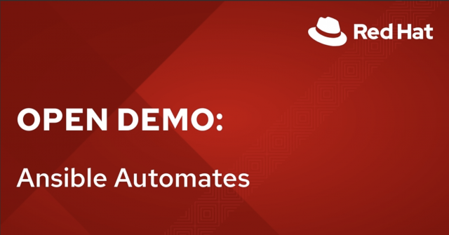 Open Demo: Ansible Automation(6/1)