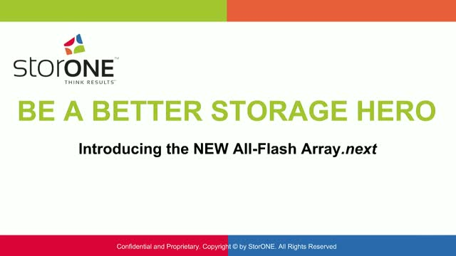 Introducing The All-Flash Array.next powered by Intel Optane and StorONE