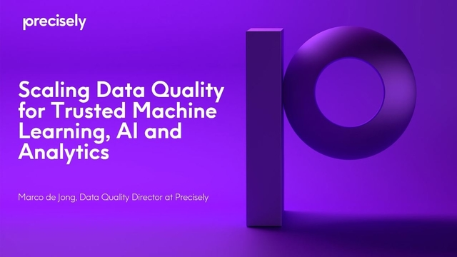 Scaling Data Quality for Trusted Machine Learning, AI and Analytics