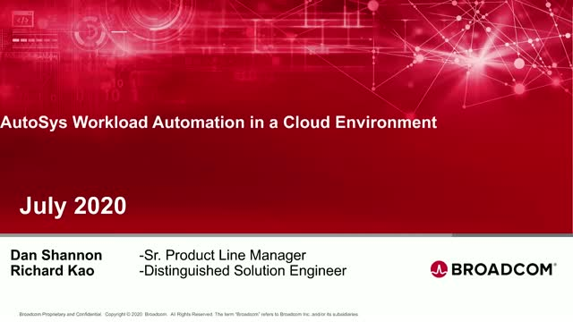 AutoSys Workload Automation - Digital Workloads in the Cloud
