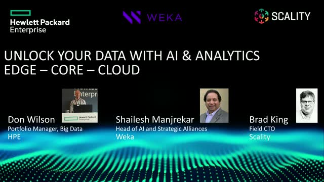 Boost Speed and Accuracy of Your AI Data Pipelines with HPE, Weka, and Scality