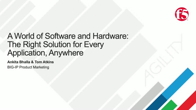 A World of Software and Hardware to Boot: The Right Solution for Every App.