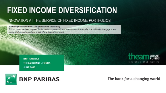 Fixed Income Diversification: Innovation at the Service of FI portfolios