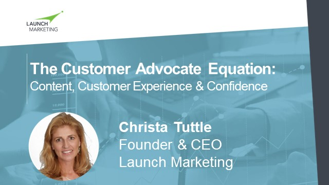 The Customer Advocate Equation: Content, Customer Experience & Confidence