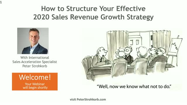 How to Structure Your Effective 2020 Sales Revenue Growth Strategy