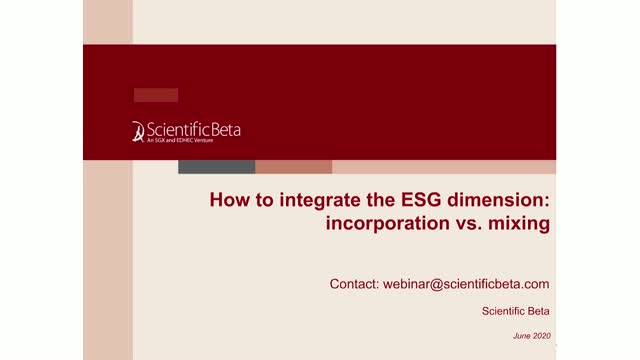 How to integrate the ESG dimension: incorporation vs. mix up