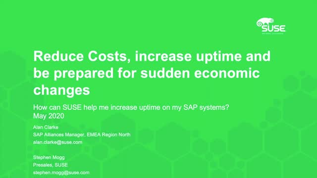 Reduce Costs, Increase Uptime and Be Prepared for sudden economic changes
